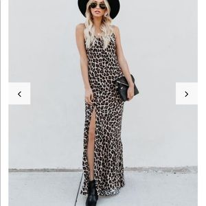 Smokin' Hot Leopard Cami Maxi Dress